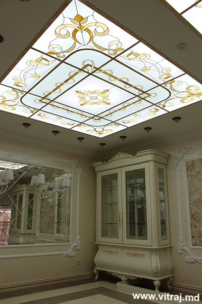 Unique stained glass for ceilings