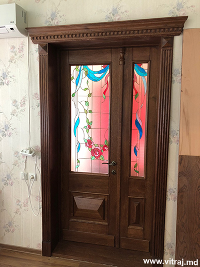 Stained glass for doors, custom-made