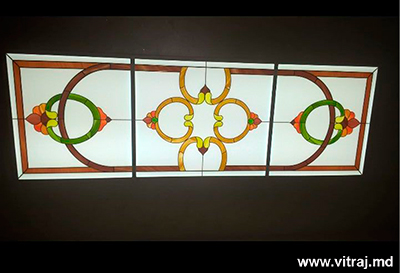 Decorativ steined glass for ceiling