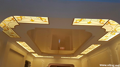 Design stained glass in ceilings, custom-made